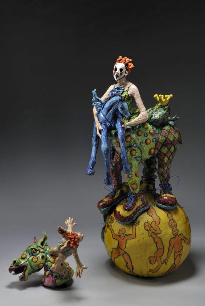 Escaping the Circus Narrative Art Sculpture